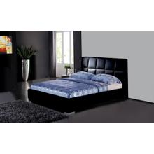 Black tufted Pu Modern Bed