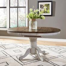 Oval Pedestal Table Top- White