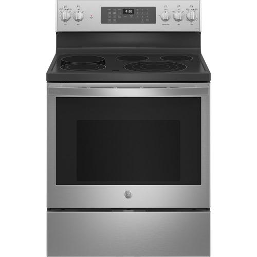 "GE 30"" Free-Standing Gas Double Oven Convection Range Stainless Steel - JCGBS86SPSS"