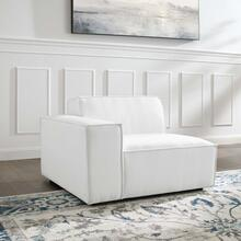 Restore Left-Arm Sectional Sofa Chair in White