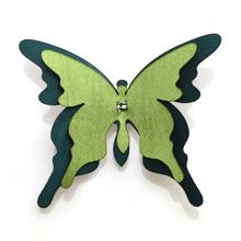 Butterfly with Clip (Color:Green)
