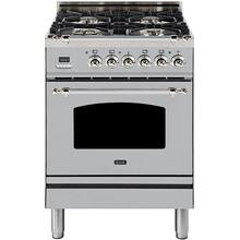 Product Image - Nostalgie 24 Inch Dual Fuel Liquid Propane Freestanding Range in Stainless Steel with Chrome Trim