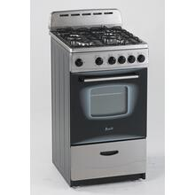 "CLEARANCE SPECIAL - 20"" Gas Range in Stainless Steel. (Good Stock In-box Item)"