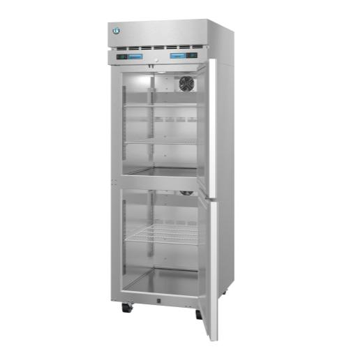 DT1A-HS, Refrigerator and Freezer, Single Section Dual Temp Upright, Half Stainless Doors with Lock
