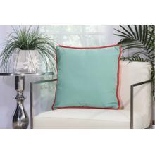 "Outdoor Pillows L1589 Coral/aqua 20"" X 20"" Throw Pillow"