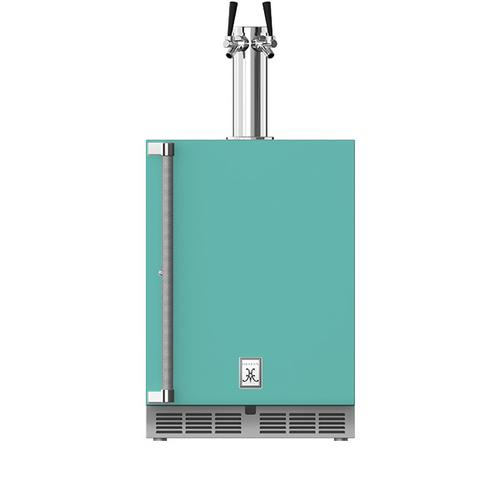 """Hestan - 24"""" Hestan Undercounter Double Faucet Beer Dispenser - GFDS Series - Bora-bora"""