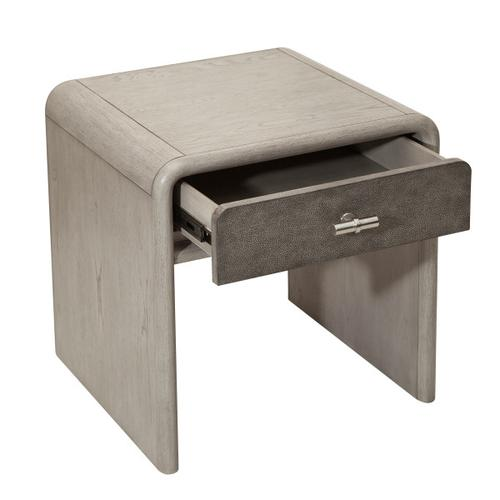 Gray Oak & Shagreen End Table