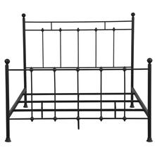 Shaker Style Queen Metal Bed in Iron Black