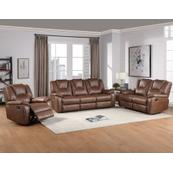 Katrine 3-Piece Manual Motion Set, Brown (Sofa, Loveseat & Chair)
