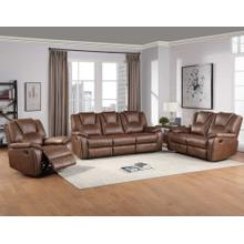 Katrine 3-Piece Manual Reclining Set, Brown (Sofa, Loveseat & Chair)