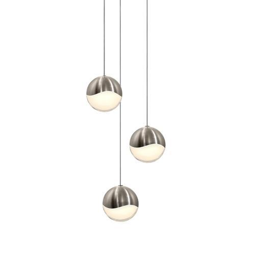 Sonneman - A Way of Light - Grapes® LED Pendant [Size=3-Light Large, Color/Finish=Satin Nickel, Shape=Round Canopy]