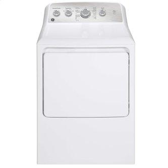 GE 7.2 cu.ft. Top Load Gas Dryer with SaniFresh Cycle White - GTD45GBMRWS