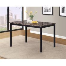 Noyes Metal Dining Table with Laminated Faux Marble Top