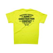 Yellow Pocket T-shirt w/ Audio Construction Graphic-L