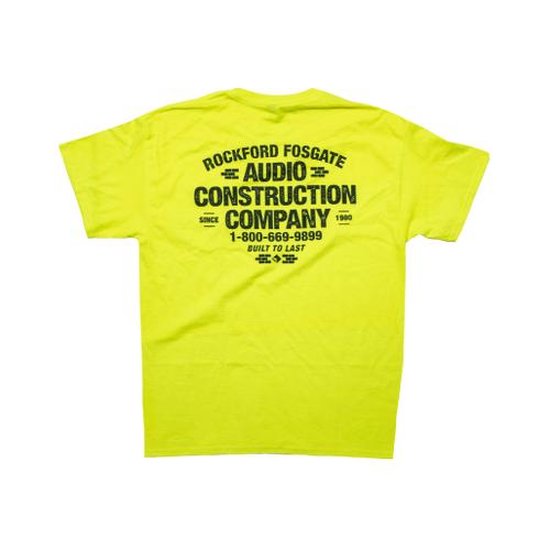 Rockford Fosgate - Yellow Pocket T-shirt w/ Audio Construction Graphic-L