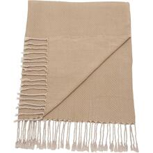 "Throw Sz008 Beige 50"" X 70"" Throw Blanket"