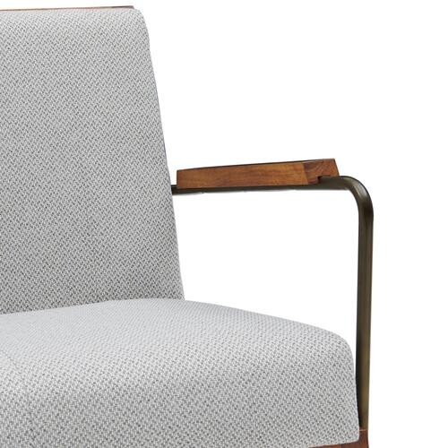 Damian Fabric Accent Arm Chair, Cardiff Gray