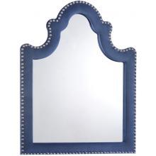 "Caroline Navy Velvet Mirror - 43.5"" W x 1"" D x 36"" H"