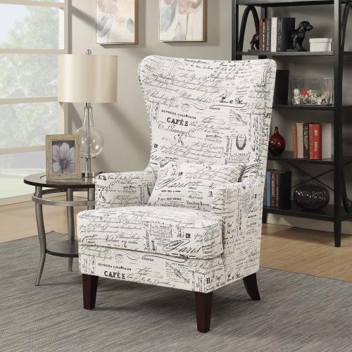 Kori Accent Chair in French Script