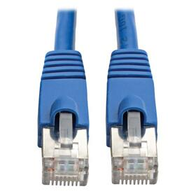 Cat6a 10G-Certified Snagless Shielded STP Ethernet Cable (RJ45 M/M), PoE, Blue, 8 ft. (2.43 m)