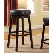 Set of Two Fun Color Wooden Swivel Barstools Bar Height Bistre Brown