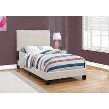 See Details - BED - TWIN SIZE / BEIGE LINEN