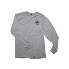 Heather Gray Long Sleeve with Motorcycle Graphic-L