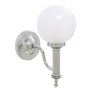 Ibis Wall Light With Frosted Glass Globe Shade