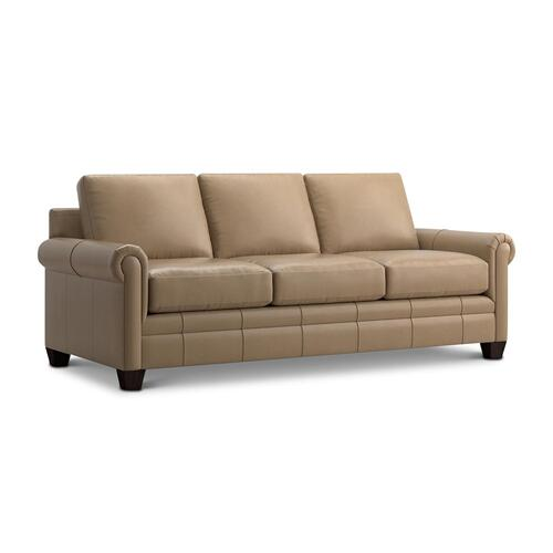 See Details - Carolina Leather Panel Arm Queen Sleeper
