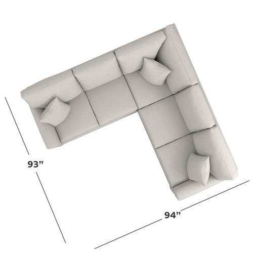 Bassett Furniture - Carolina Sock Arm L-Shaped Sectional
