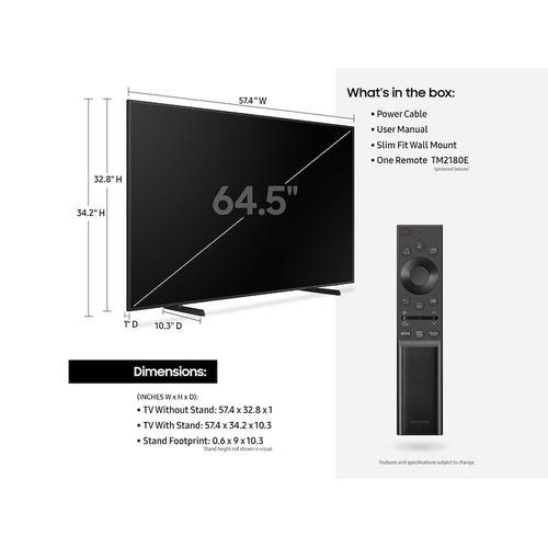 "Samsung - 65"" Class The Frame QLED 4K Smart TV (2021)"