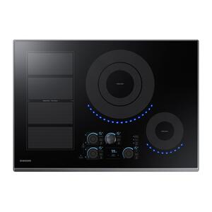 "Samsung Appliances30"" Smart Induction Cooktop in Black Stainless Steel"
