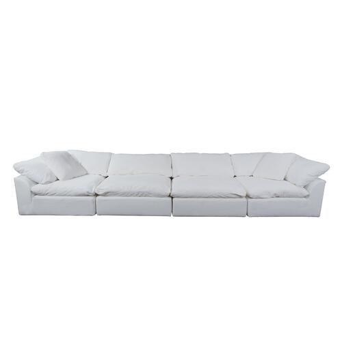 Cloud Puff Slipcovered Modular Sectional Sofa - 391081 (4 Piece)