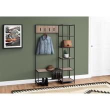 "BENCH - 72""H / DARK TAUPE / BLACK METAL HALL ENTRY"