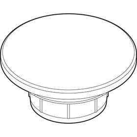 Valve cap, Ventilkappe, white, glazed