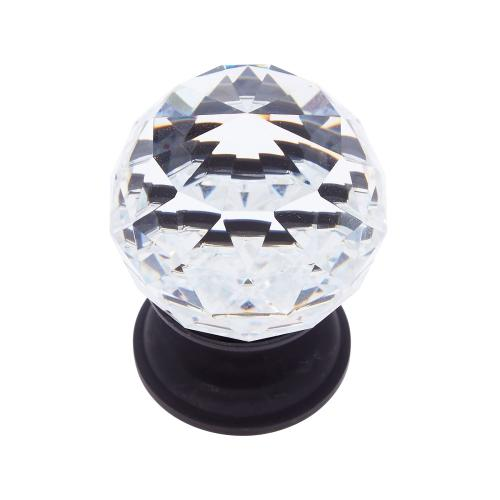 Oil Rubbed Bronze 40 mm Round Faceted Knob
