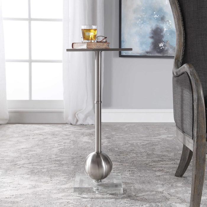 Uttermost - Laton Accent Table, Silver