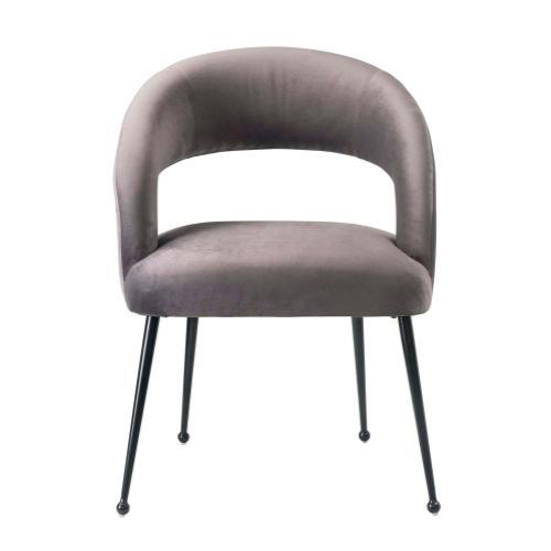 Rocco Grey Velvet Dining Chair