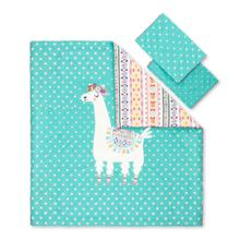 Dreamit - Comforter and Pillowcase Festive Llama, Turquoise, Full