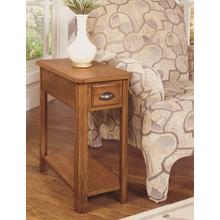 Chairside End IN Autumn Oak Finish       (1014-07,52807)