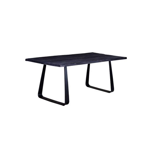 Crossover Black Dining Tables with different bases, SB-AUT-63B