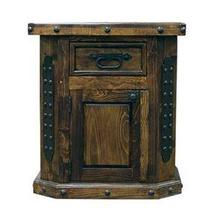 Brown Right Fine Laquer Nightstand