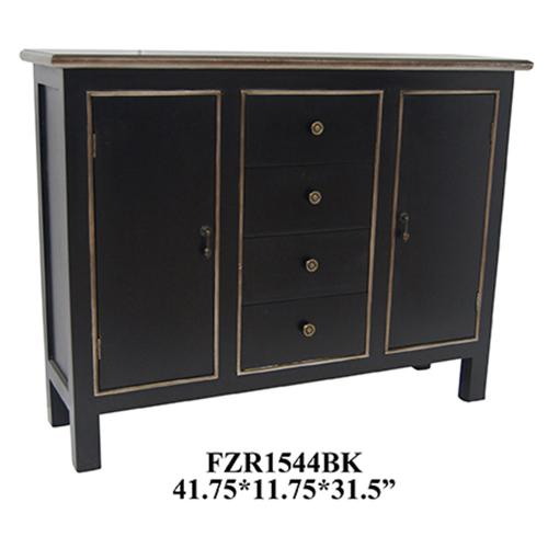 Crestview Collections - Cabinet Black