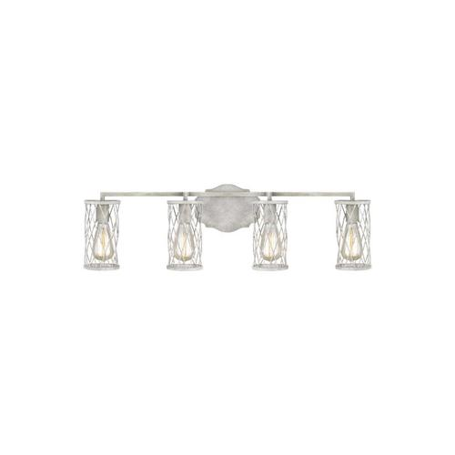 Cosette 4 - Light Vanity French Washed Oak / Distressed White Wood