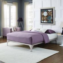 View Product - Ollie Queen Bed Frame in Silver