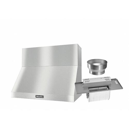 """DAR 1230 Set 7 Wall-Mounted Range Hood with Extraction Mode with integrated XL motor including 12"""" chimney cover."""