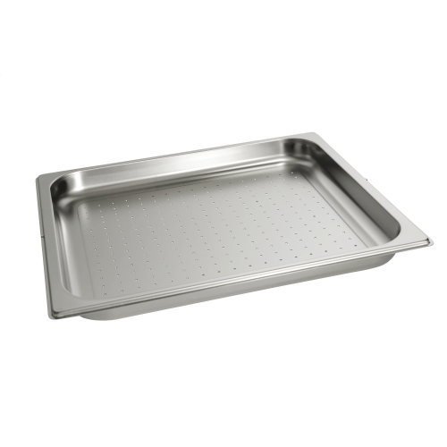 DGGL 12 - Perforated steam oven pan For blanching or cooking vegetables, fish, meat and potatoes and much more