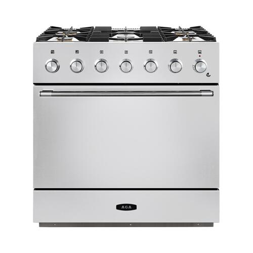 AGA Mercury 36 Dual Fuel White with Chrome trim