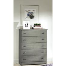 See Details - Gray 5 Drawer Chest
