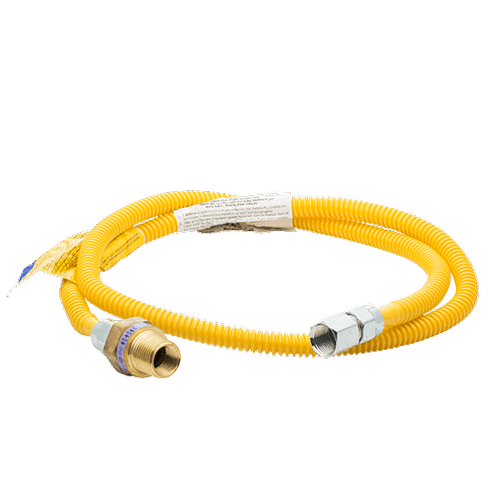 Smart Choice 4' Long 3/8'' Safety+PLUS® ProCoat Dryer Gas Connector Kit